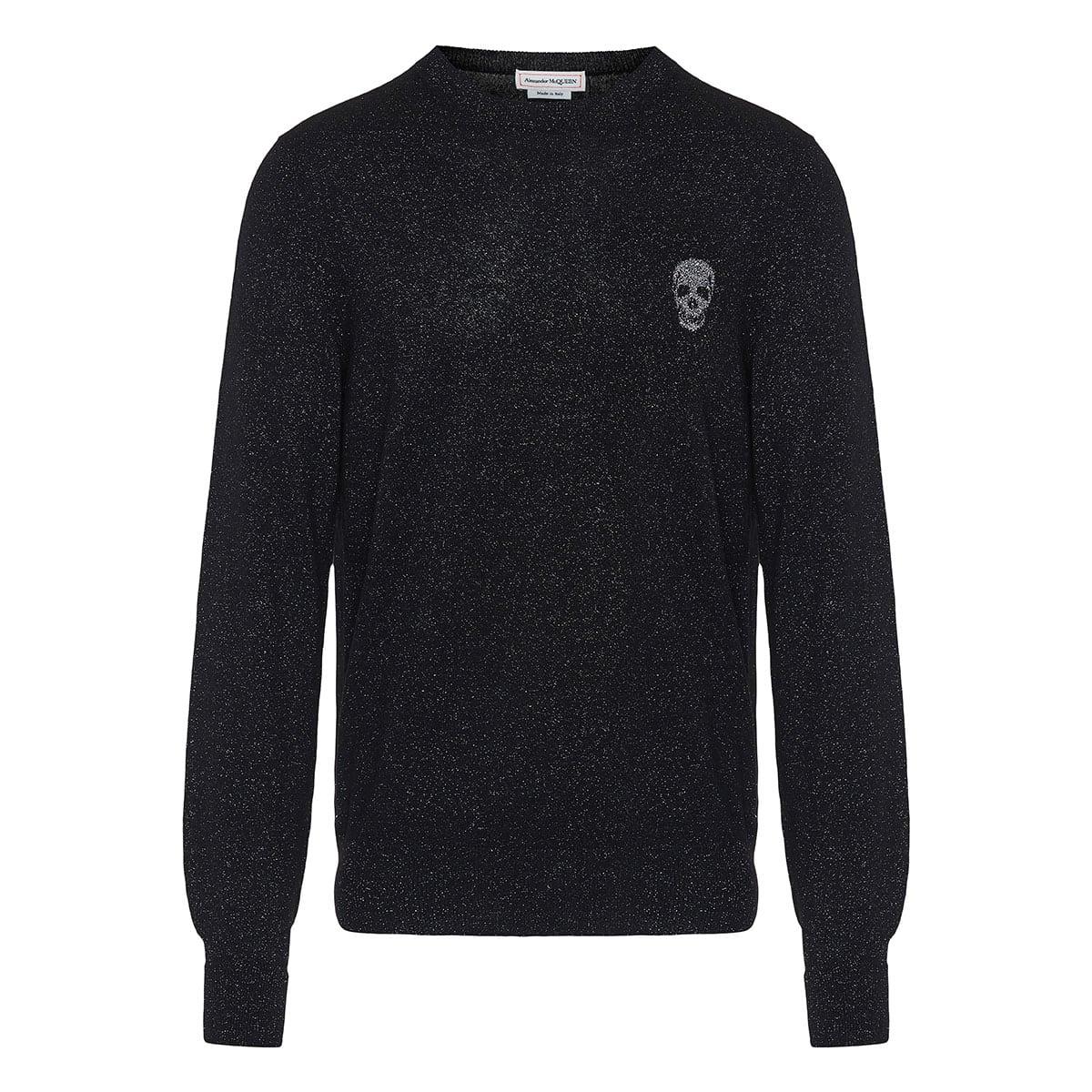 Skull lurex sweater