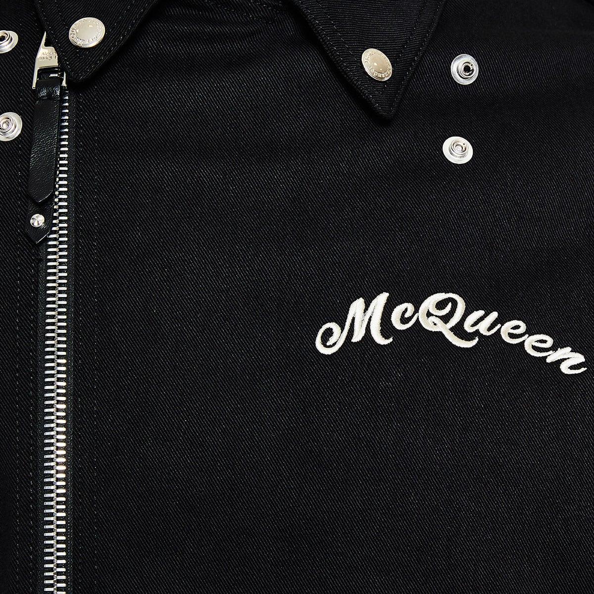 Logo denim biker jacket