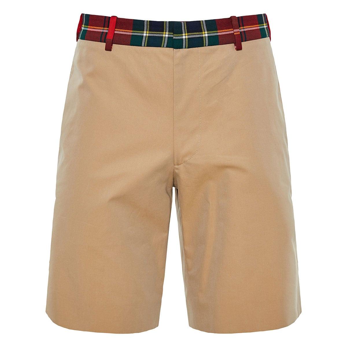 Tartan-trimmed bermuda shorts