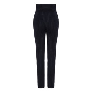 Slim-fit pinstripe trousers