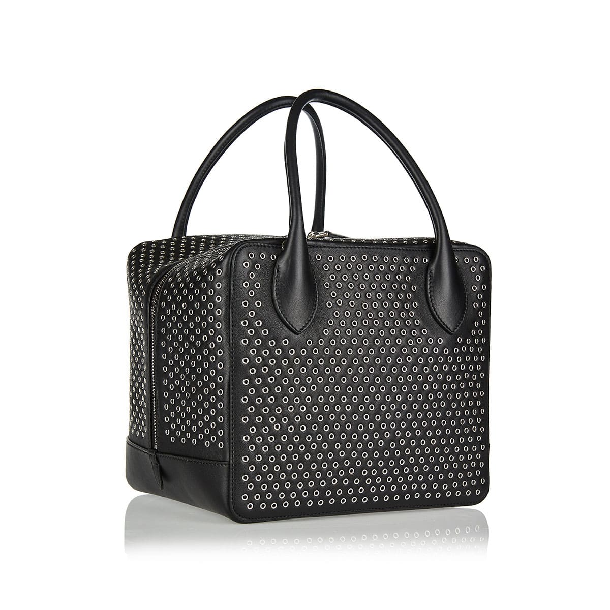 Elba studded leather shoulder bag
