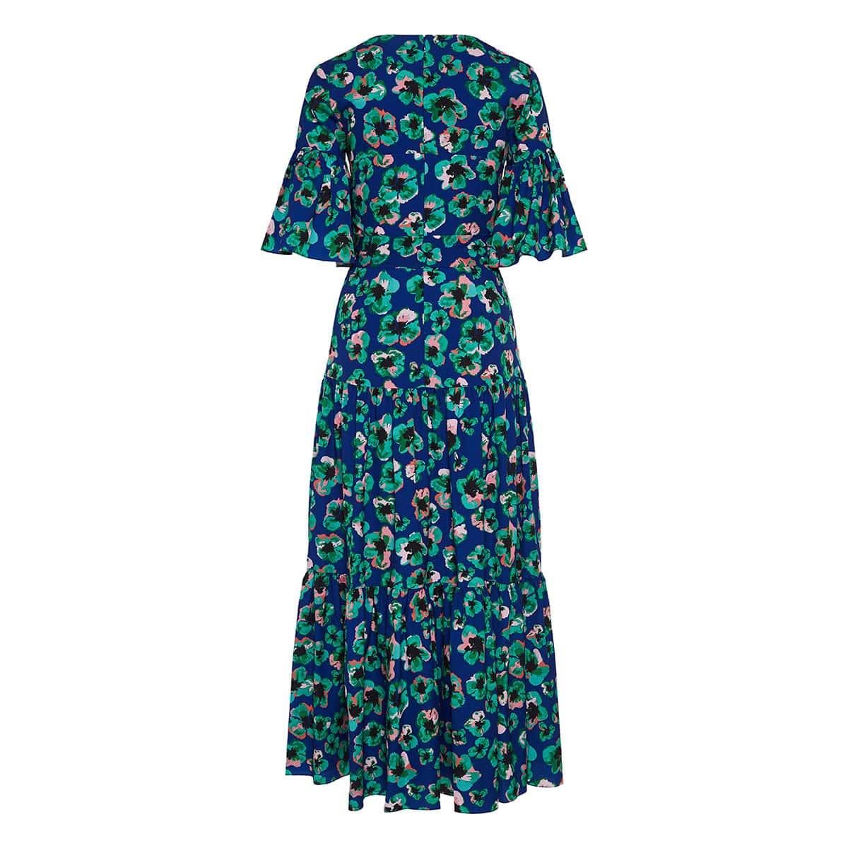 Teodora floral tiered midi dress