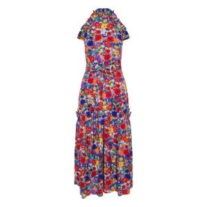 Dora halterneck floral midi dress