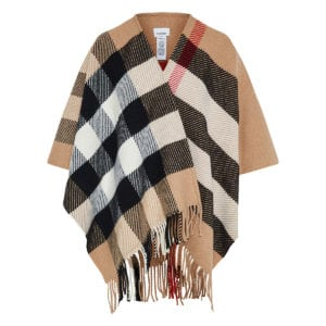 Vintage Check wool cape
