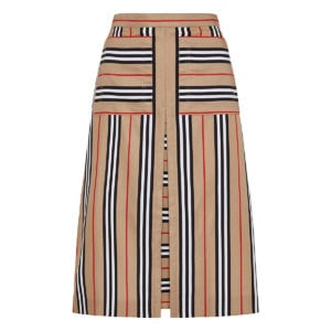 Icon Stripe A-line skirt