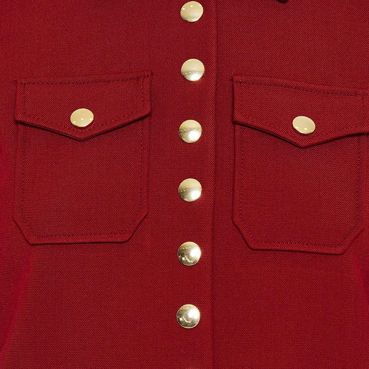 Button-embellished utility jacket