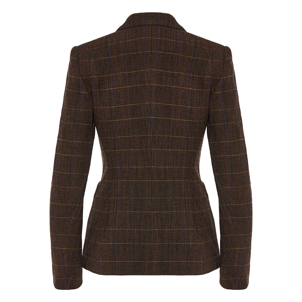 Single-breasted check blazer