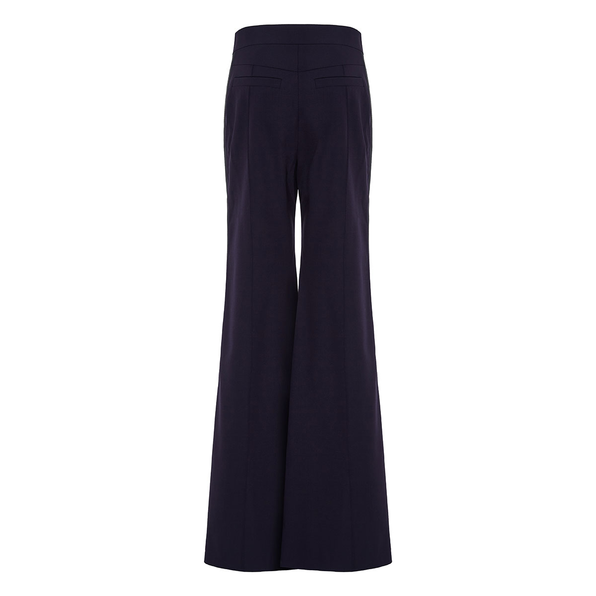 Flared tailored trousers