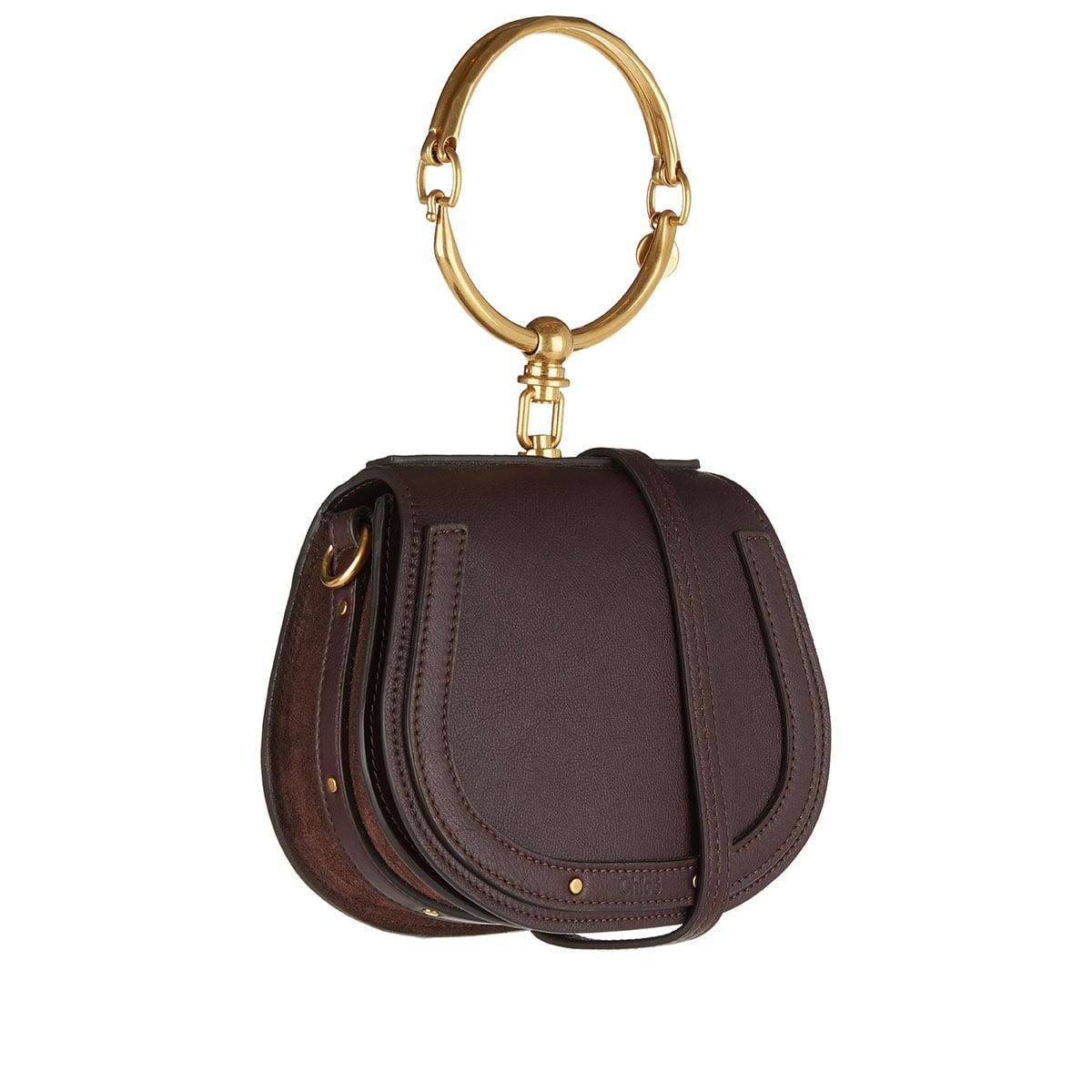 Small Nile leather bracelet bag
