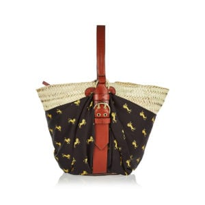 Medium Panier raffia basket bag