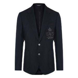 Embellished single-breasted wool blazer
