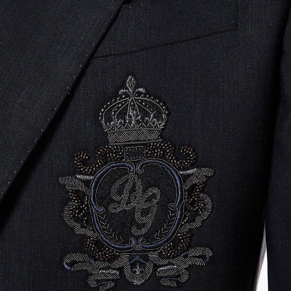 Wool blazer with patch