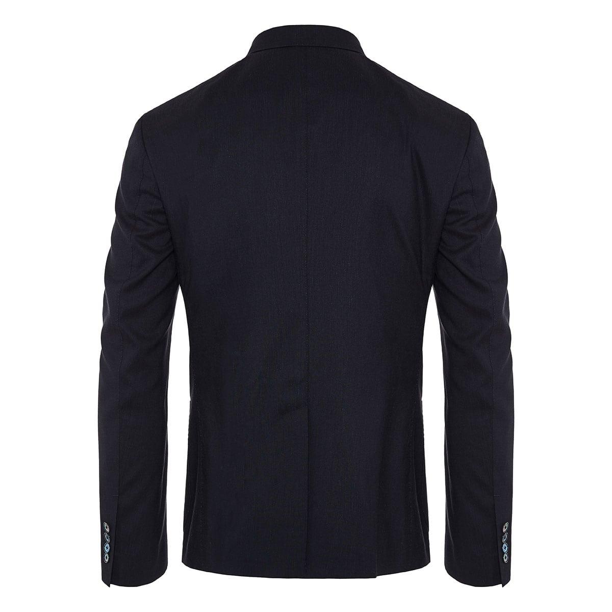 Embellished single-breasted wool blazer