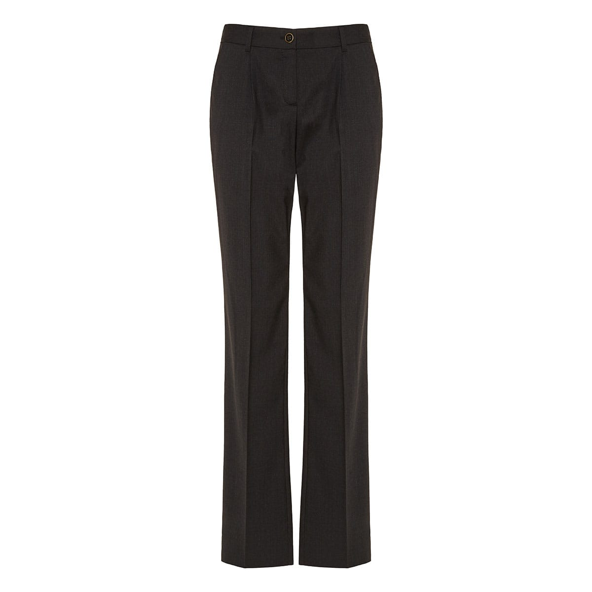 Flared wool tailored trousers
