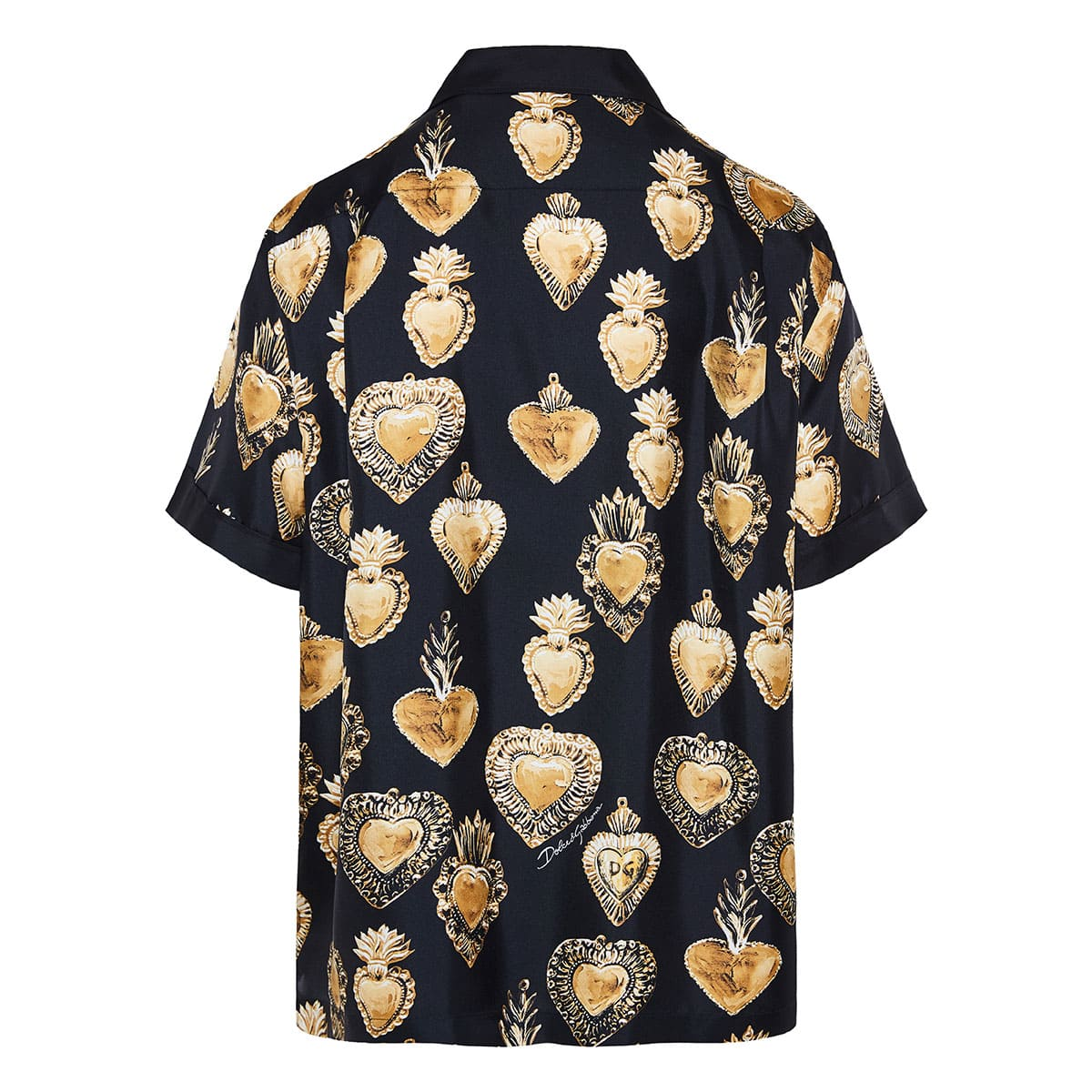 Sacred Heart printed silk shirt