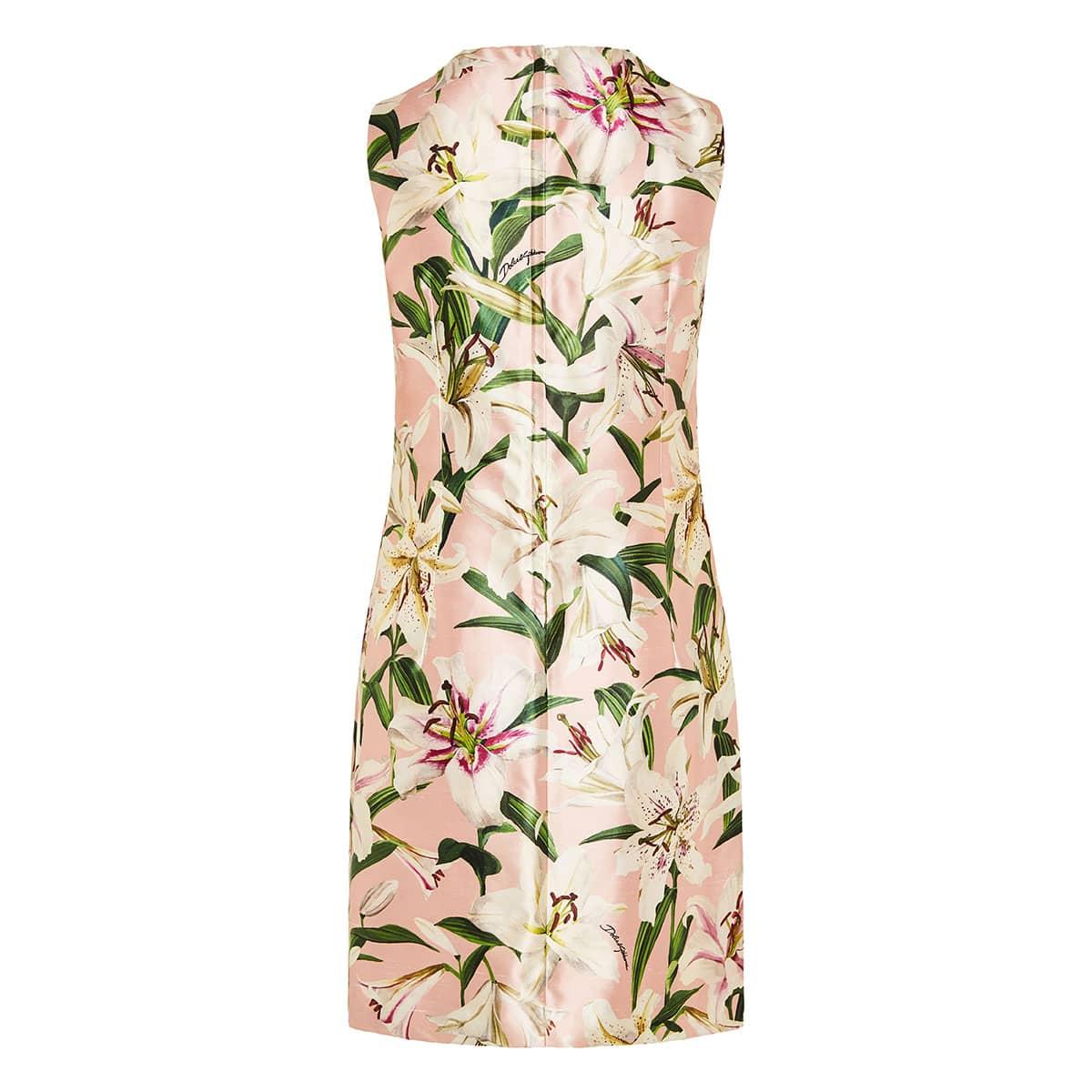 Lily-print mini dress