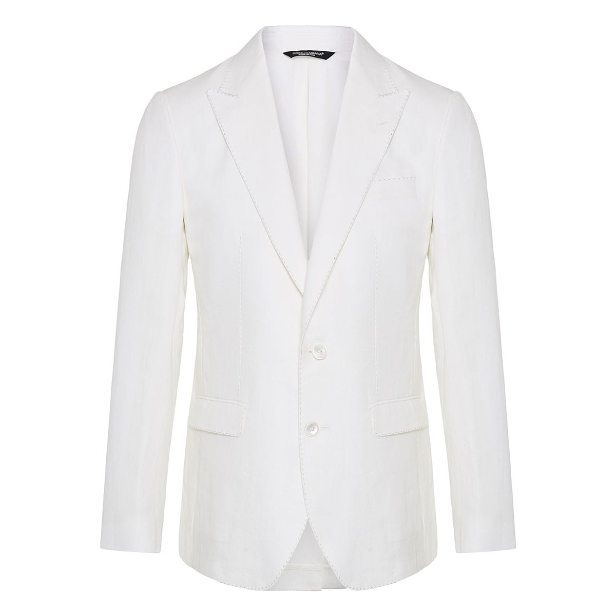 Single-breasted linen suit