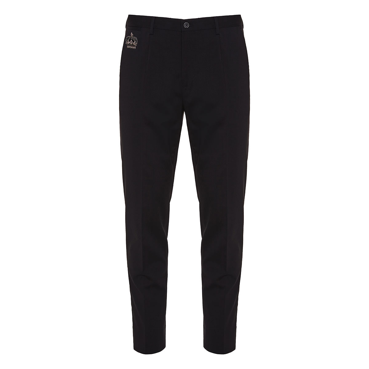 Embellished wool tailored trousers