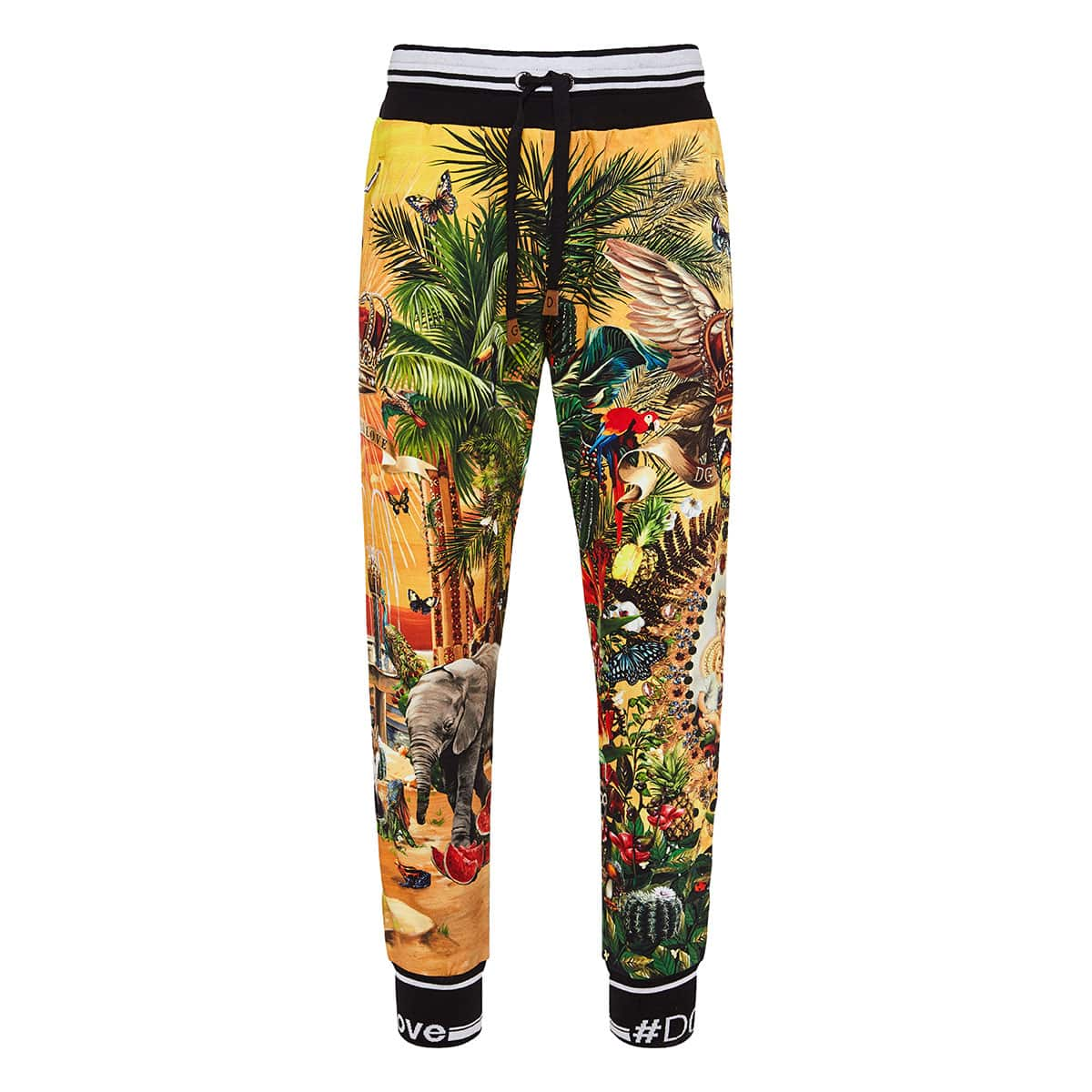 Tropical printed track trousers