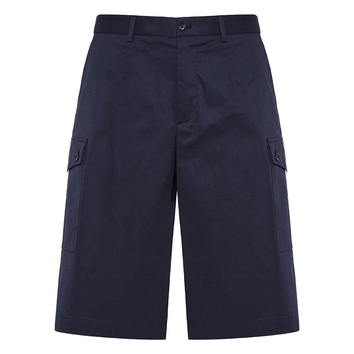 Wide-leg bermuda shorts