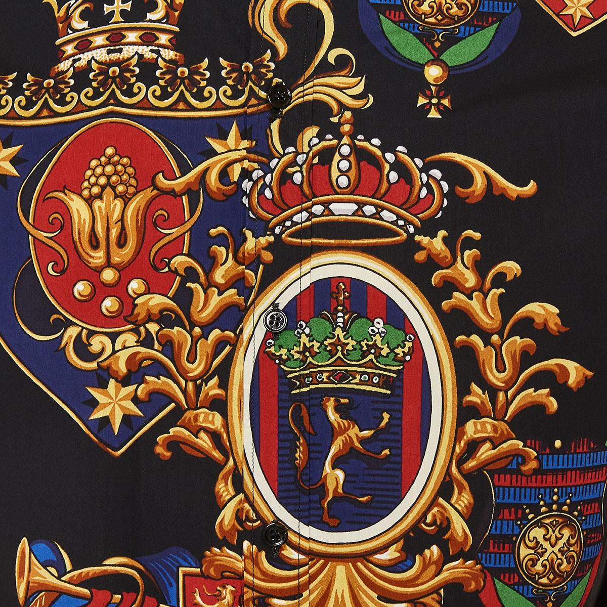 Emblem-printed poplin shirt