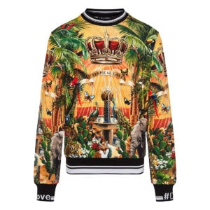 Tropical printed DG king sweatshirt