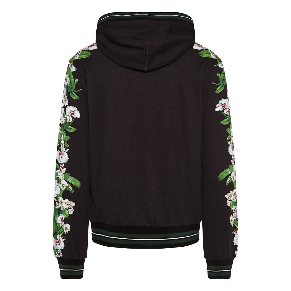 Logo hoodie with floral detailing