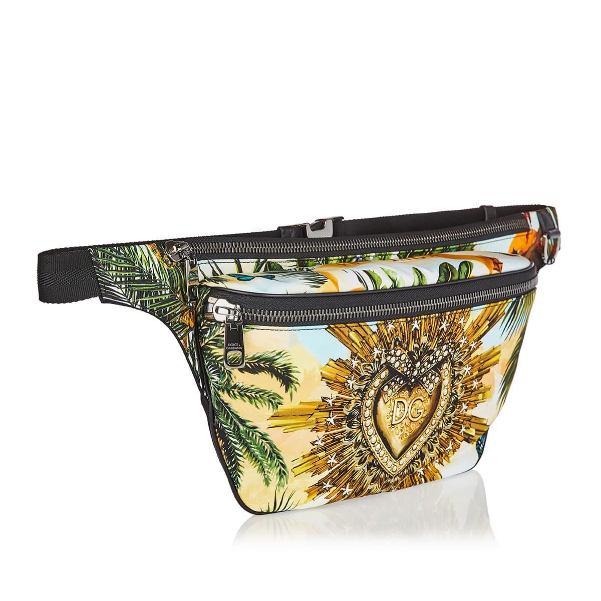 Tropical printed Vulcano belt bag