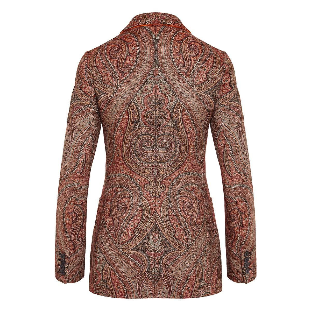 Paisley single-breasted jacquard blazer