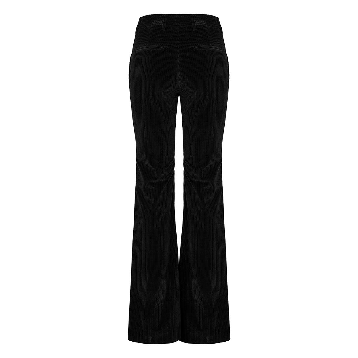 Corduroy flared velvet trousers