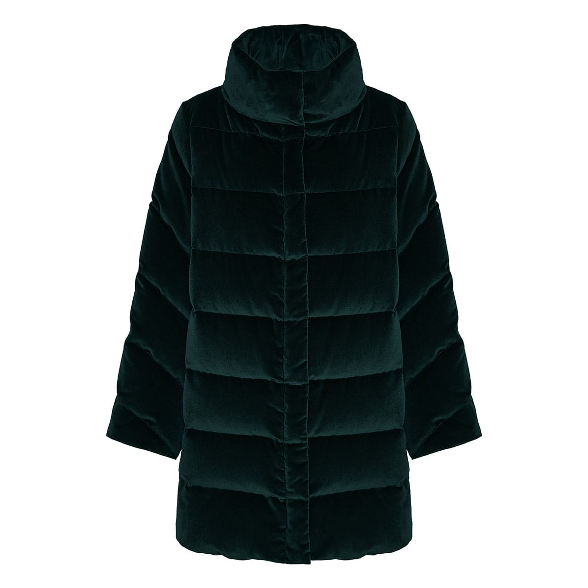 Down quilted velvet jacket