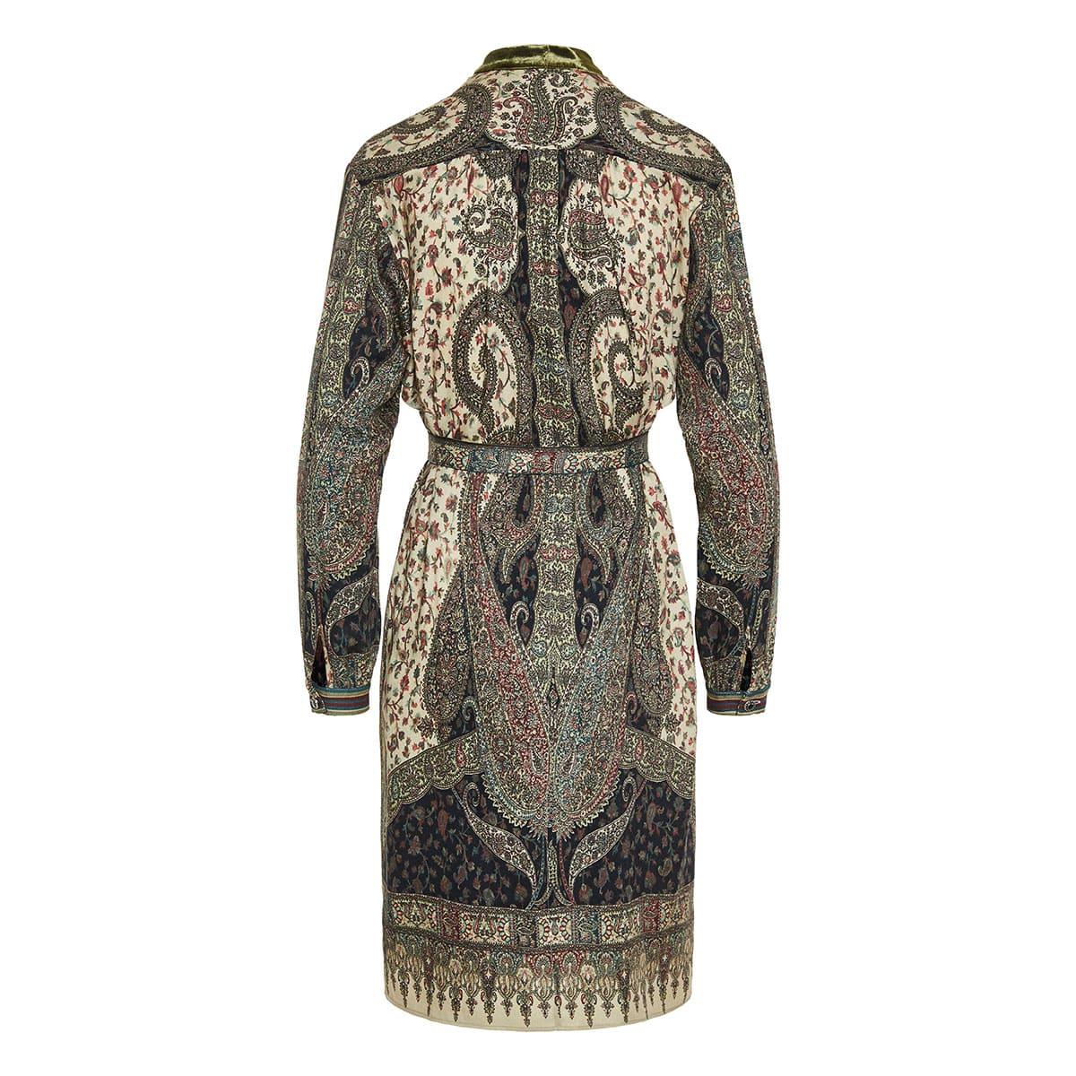Devon printed shirt dress