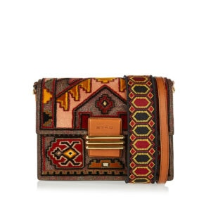 Ikat-printed Rainbow shoulder bag