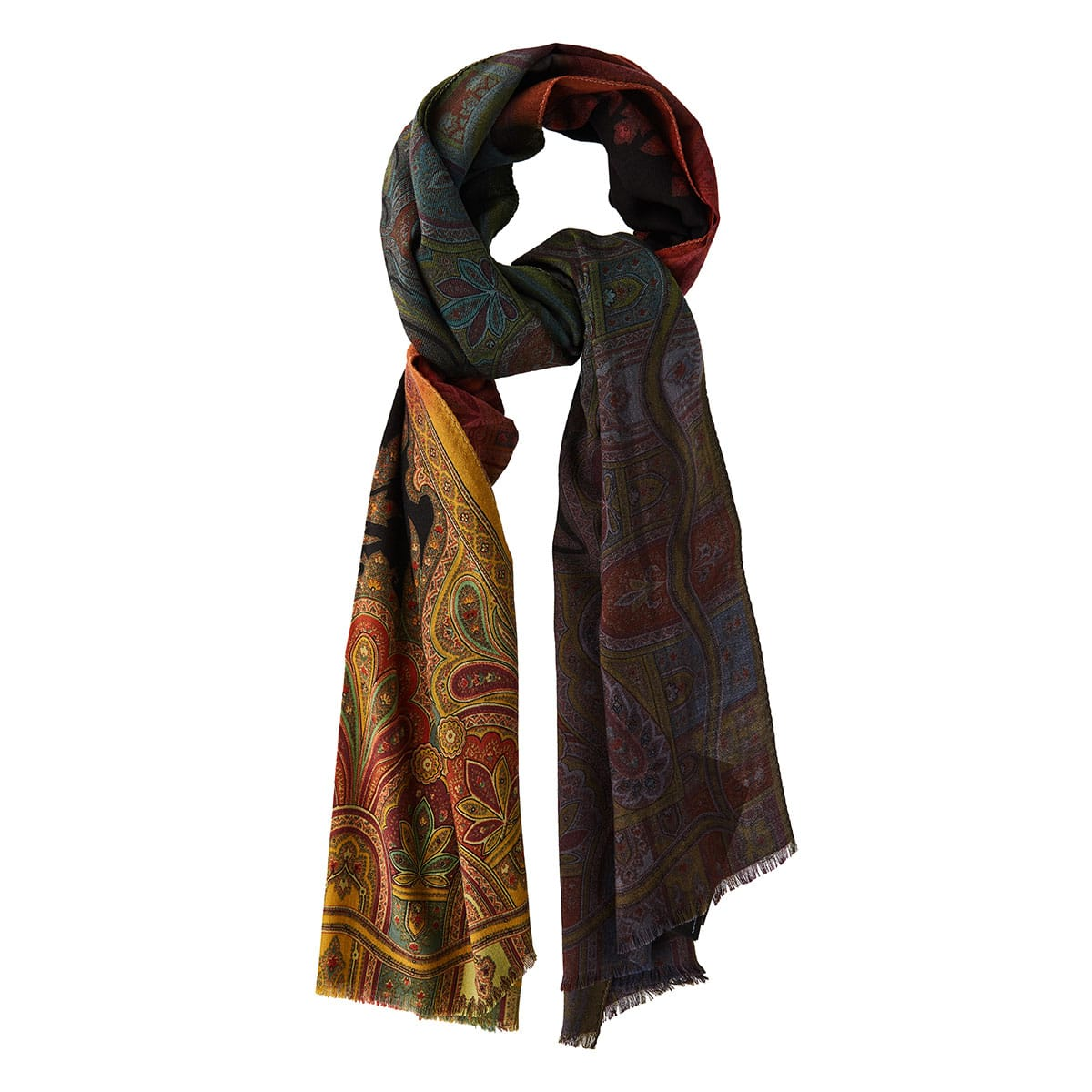 Patchwork printed scarf