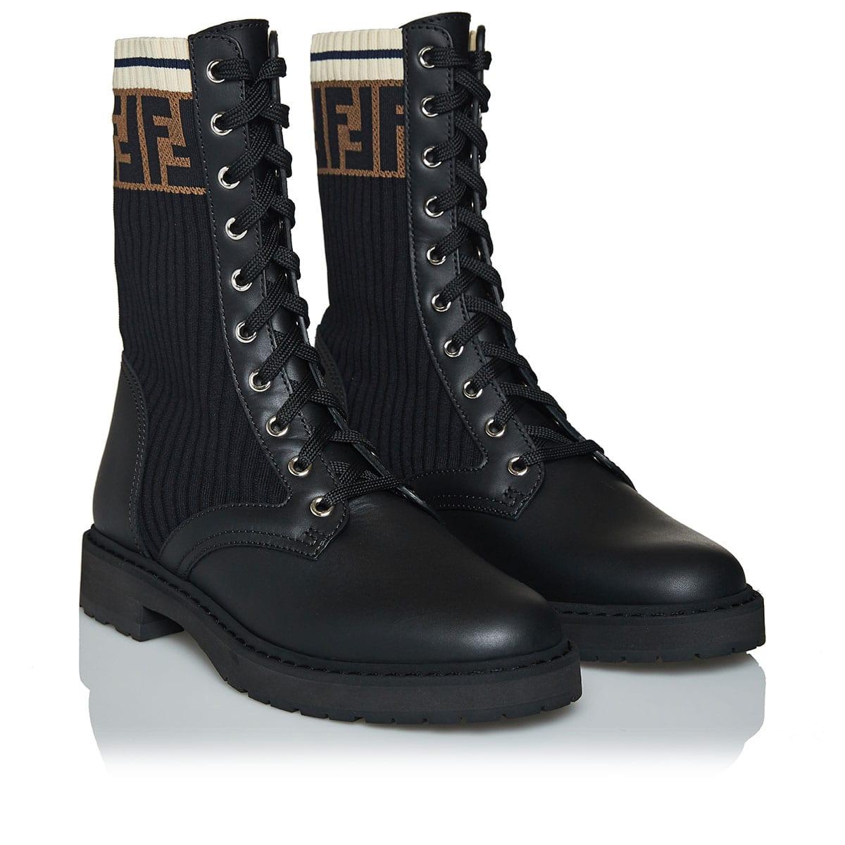 Rockoko FF logo combat boots