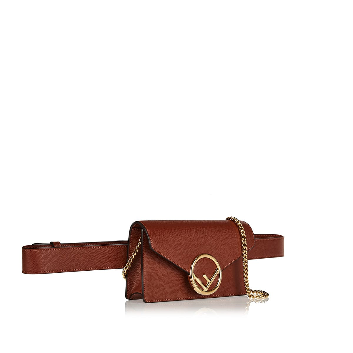 F-logo leather belt bag
