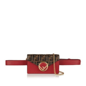 FF logo leather belt bag