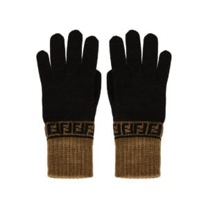 FF wool knitted gloves