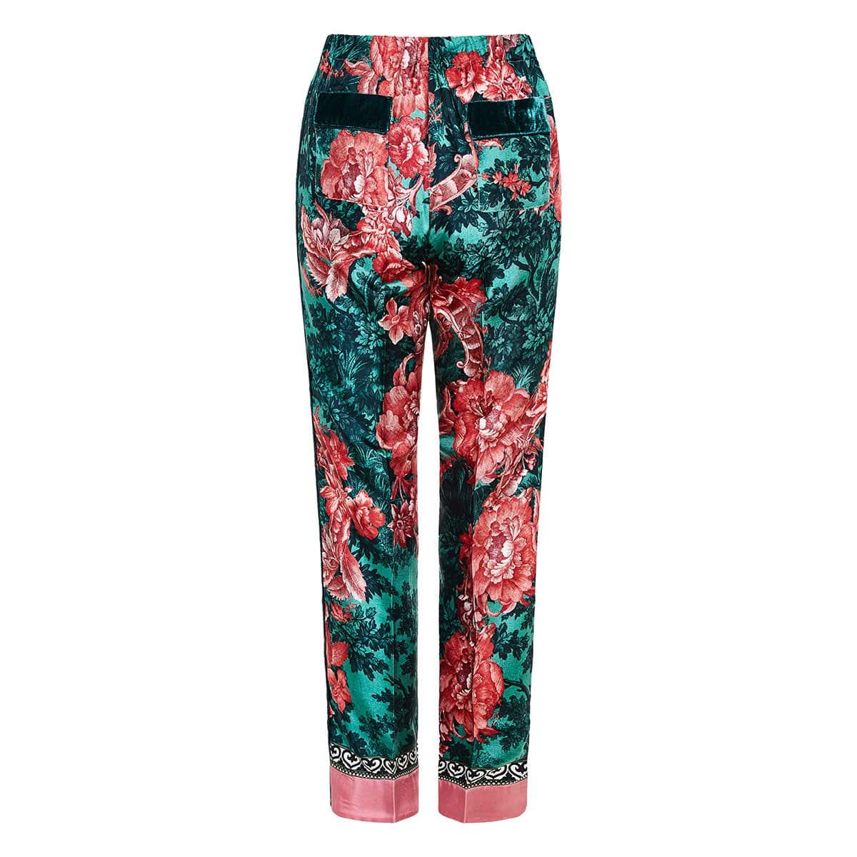 Etere printed pajama trousers