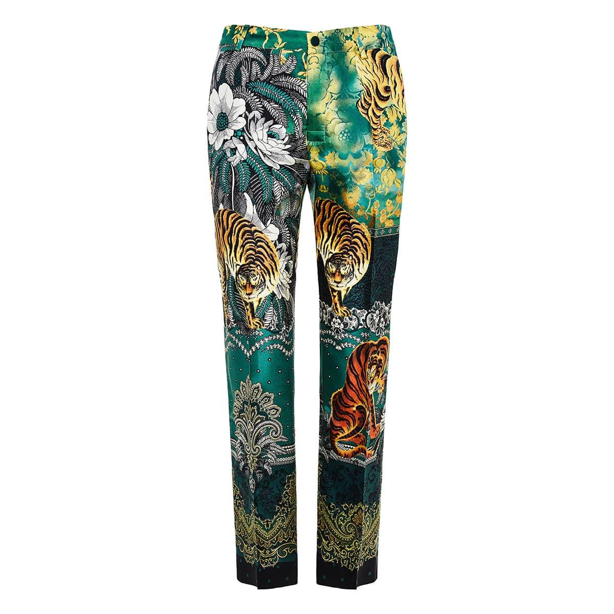 Tartaro printed cropped pajama trousers