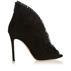 Vamp 105 pleat-trimmed suede ankle boots