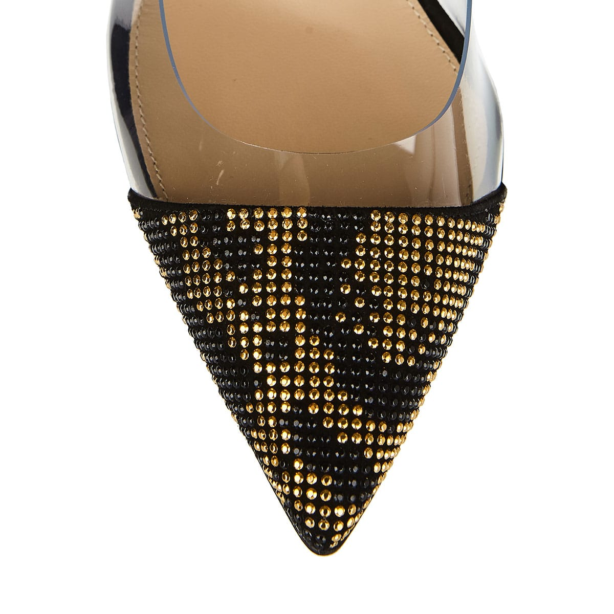 Plexi 105 stud-embellished and pvc pumps