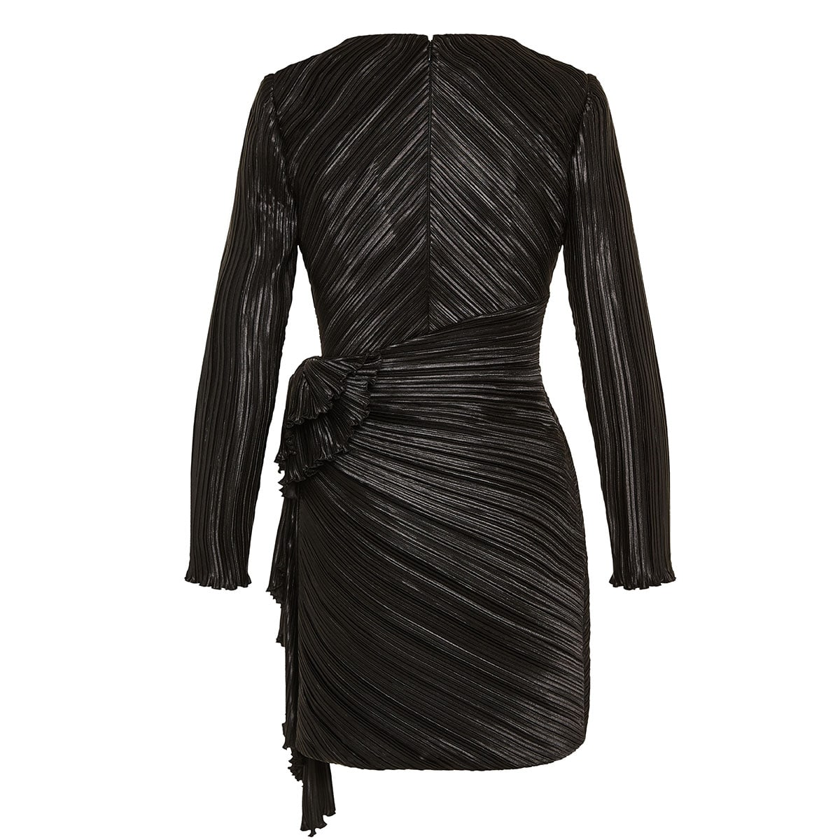 Pleated mini dress with bow