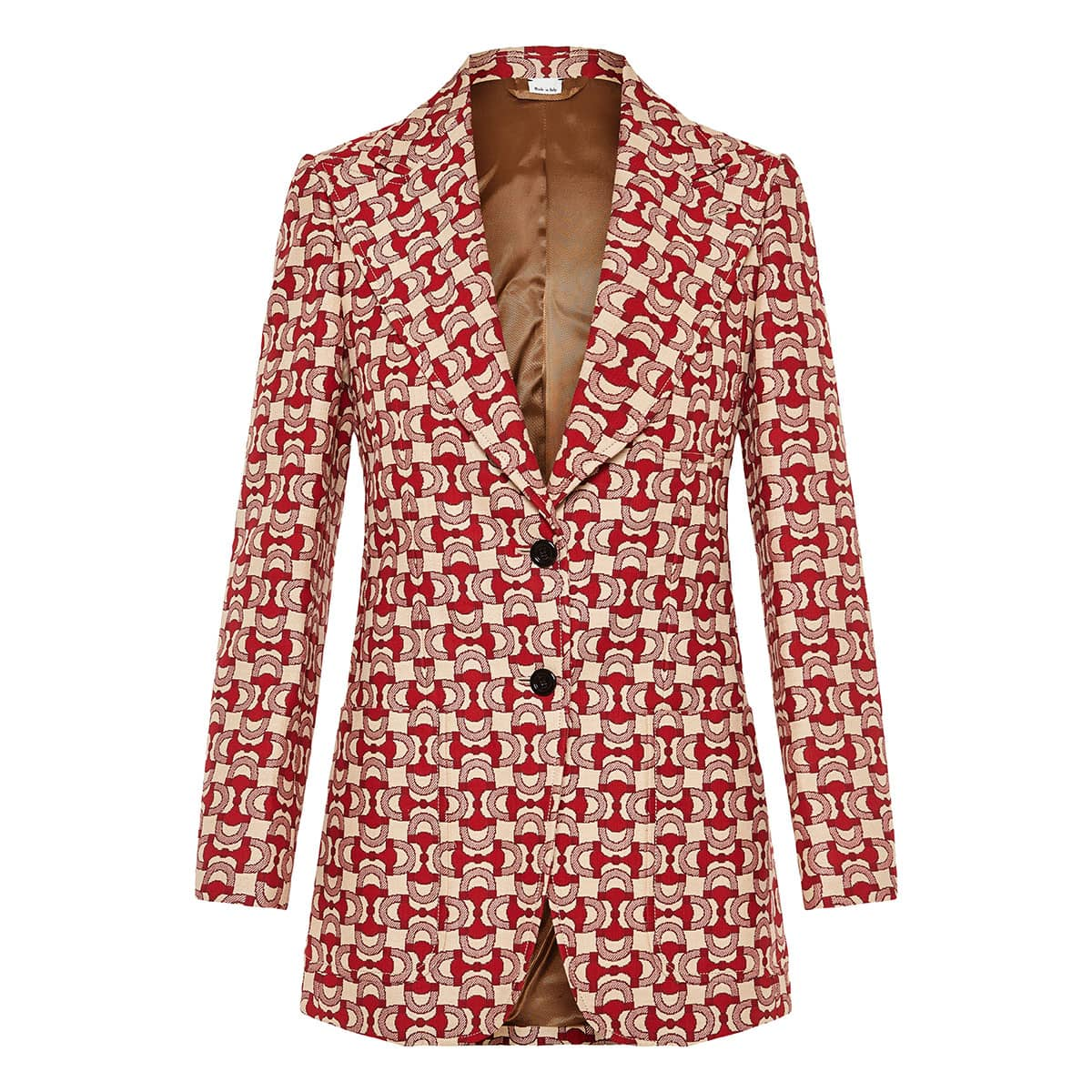 Horsebit print jacquard blazer