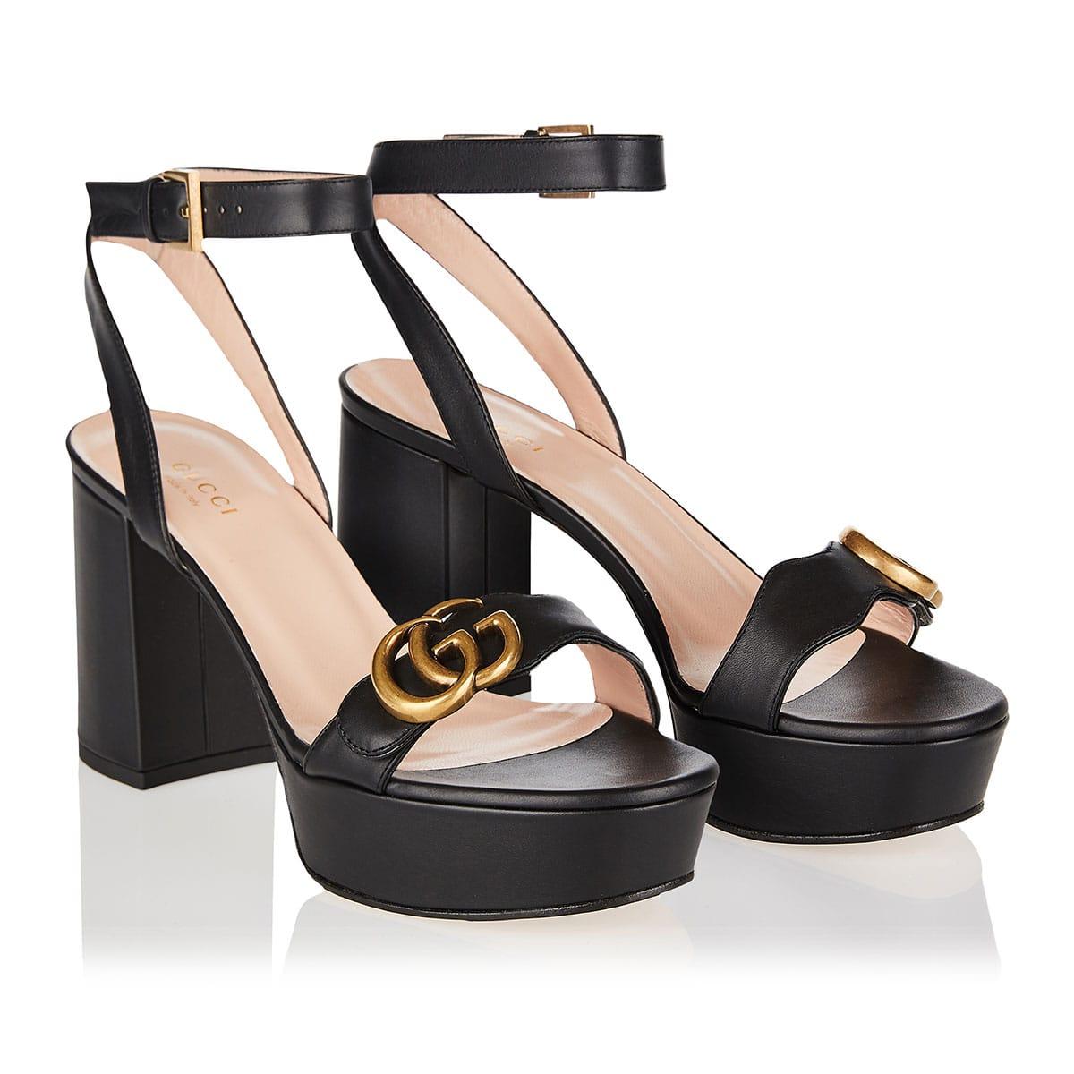 Double G platform sandals