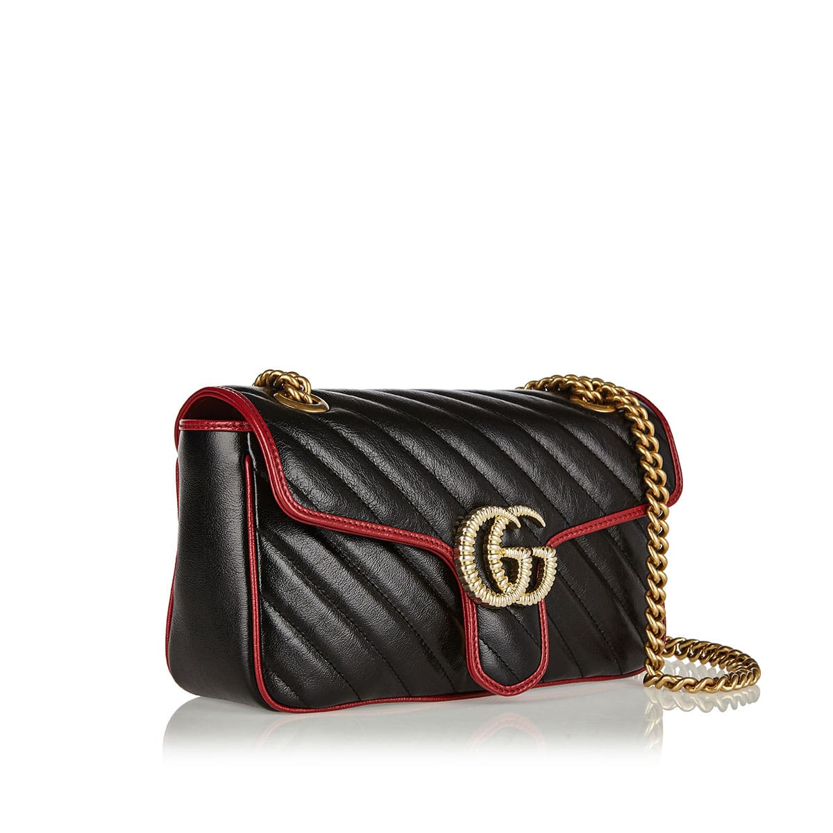 7d5833d92b GG Marmont two-tone small shoulder bag | LuisaWorld