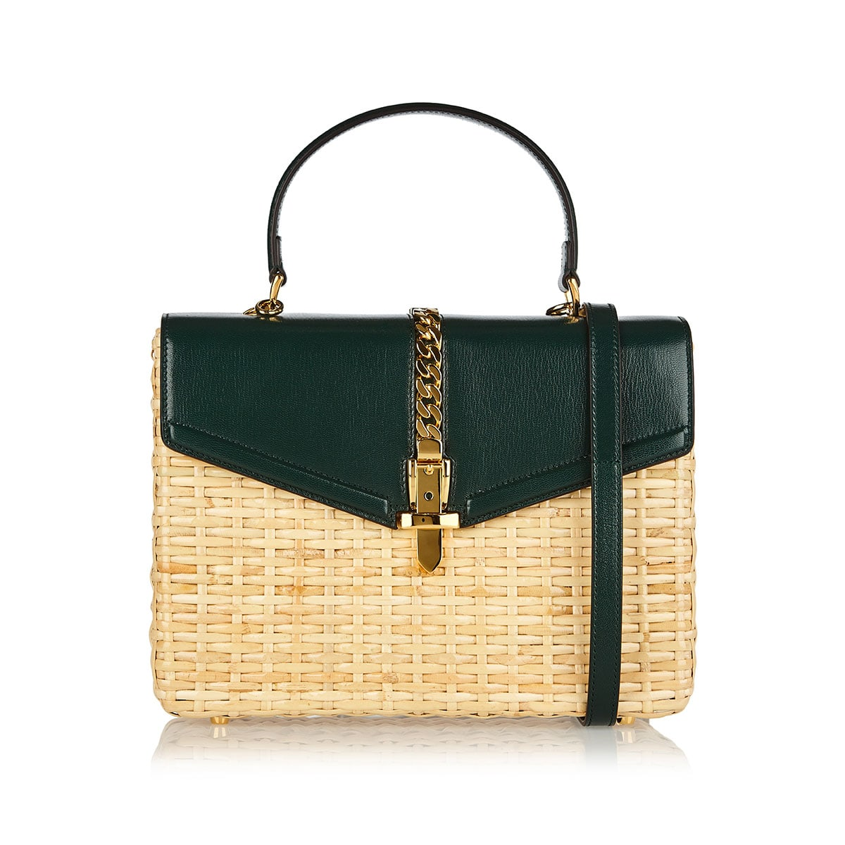 Sylvie wicker small top handle bag