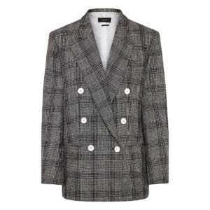 Deagan oversized checked blazer