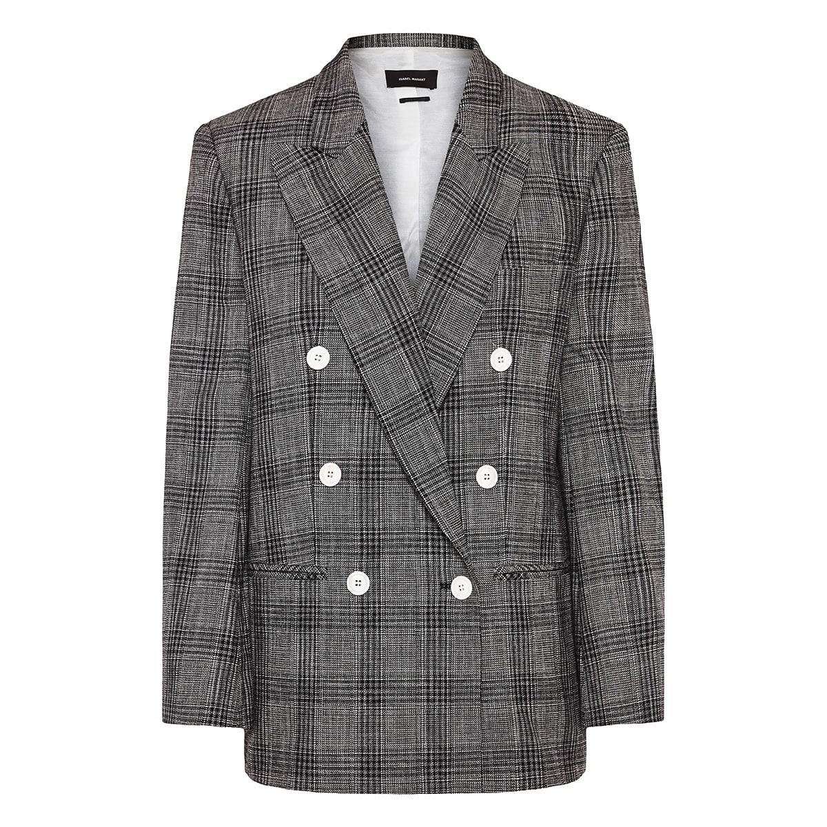 Deagan oversized checked blazer
