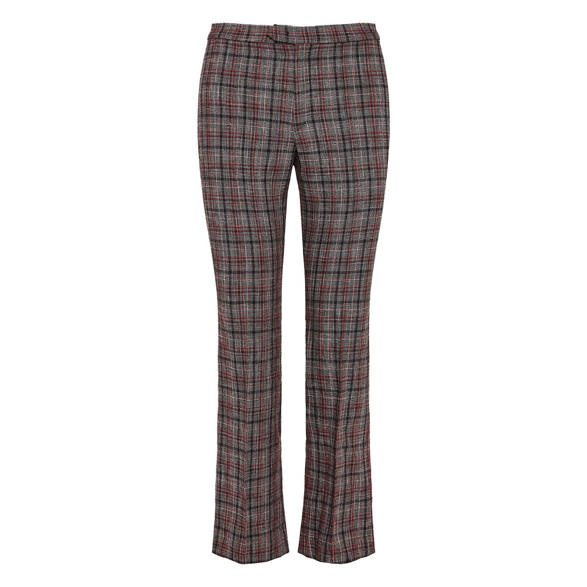 Derys checked cropped trousers